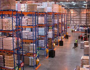 A typical medium-small distribution center
