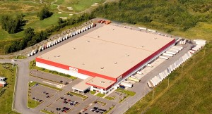 Outside view of a large distribution center