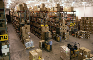 A distribution center layout