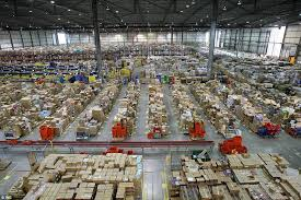 over view of a distribution center
