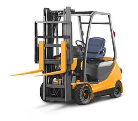 A typical electric forklift